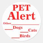 Pegatinas alertas del mascota