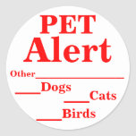 Pegatinas alertas del mascota pegatina redonda