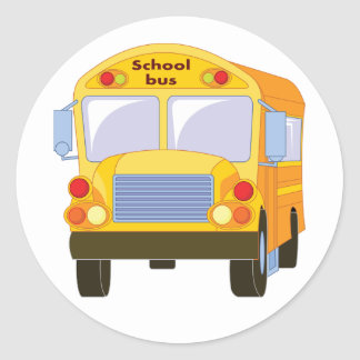 Pegatinas amarillos del autobús escolar pegatina redonda