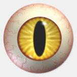 Pegatinas amarillos del ojo de los diablos