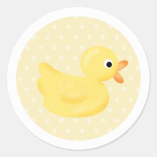 Pegatinas amarillos del pato pegatina redonda