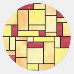 Pegatinas amarillos y rojos del vitral