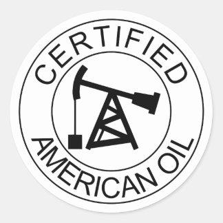Pegatinas americanos certificados del casco de la pegatina redonda
