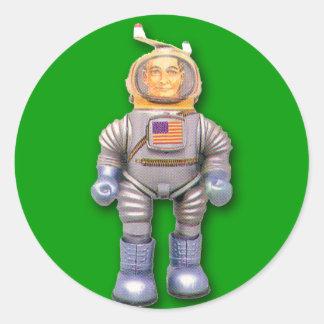 Pegatinas americanos del robot del juguete del pegatina redonda