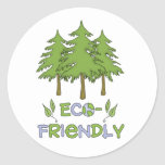 Pegatinas amistosos de Eco Etiquetas Redondas