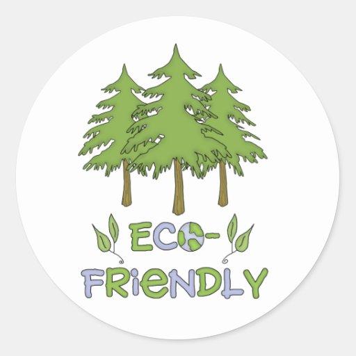 Pegatinas amistosos de Eco Pegatina Redonda