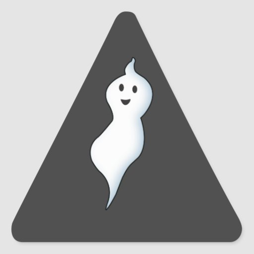 Pegatinas amistosos del fantasma de Halloween Pegatinas Trianguladas Personalizadas