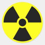 Pegatinas amonestadores radiactivos pegatina redonda