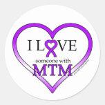 Pegatinas - amor de I alguien con MTM Etiquetas Redondas