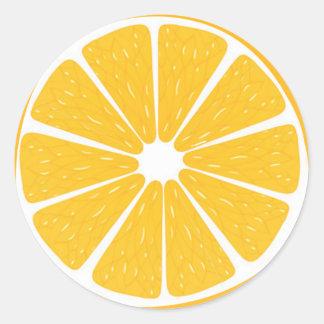 Pegatinas anaranjados con sabor a fruta pegatina redonda