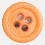 Pegatinas anaranjados del botón