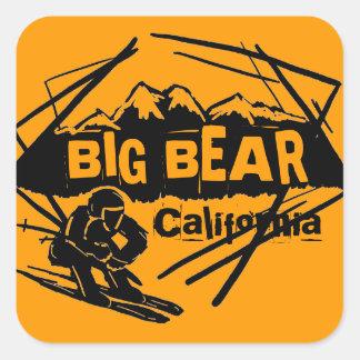 Pegatinas anaranjados del logotipo del esquí de calcomanías cuadradass personalizadas