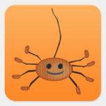 Pegatinas anaranjados lindos de Halloween de la ar Colcomanias Cuadradas Personalizadas