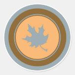 Pegatinas anaranjados marrones grises del círculo etiqueta redonda