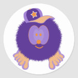 Pegatinas anaranjados púrpuras de la gorra de etiqueta redonda