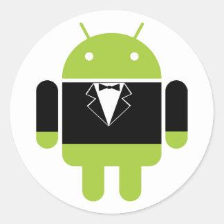 Pegatinas androides de lujo pegatina redonda