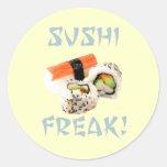 Pegatinas anormales del sushi pegatinas redondas
