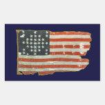 Pegatinas antiguos de la bandera americana del vin