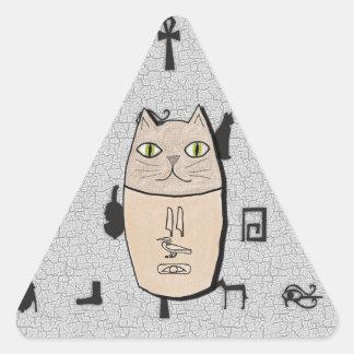 Pegatinas antiguos del gatito de Canopic del Pegatina Triangular