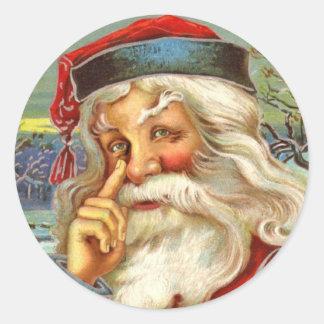 Pegatinas antiguos del navidad de Santa