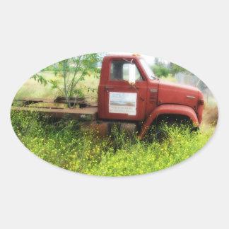Pegatinas antiguos del óvalo del camión y del calcomanías ovaladas