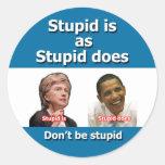 Pegatinas antis de Clinton Obama Etiquetas Redondas
