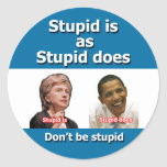 Pegatinas antis de Clinton Obama Pegatina Redonda