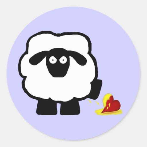 Pegatinas antis de las ovejas del día de San Pegatina Redonda