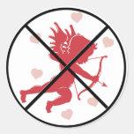 Pegatinas antis del Cupid Pegatina Redonda