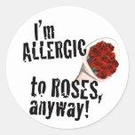 Pegatinas antis del el día de San Valentín Etiquetas Redondas