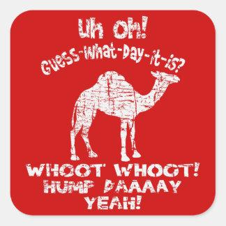 Pegatinas apenados vintage del camello del día de calcomanías cuadradass personalizadas