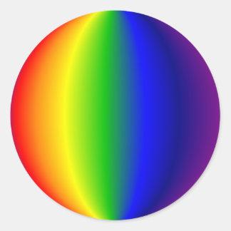Pegatinas - arco iris esférico etiquetas redondas