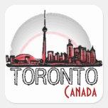 Pegatinas artísticos del horizonte de Toronto Cana