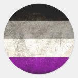 Pegatinas asexuales apenados del orgullo pegatina redonda