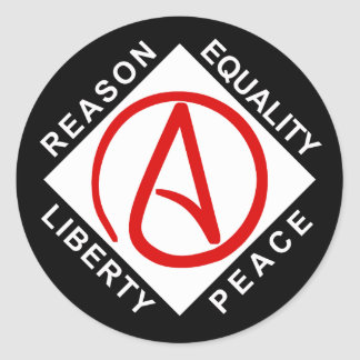 Pegatinas ateos del logotipo pegatina redonda