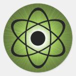 Pegatinas atómicos Nerdy, verdes