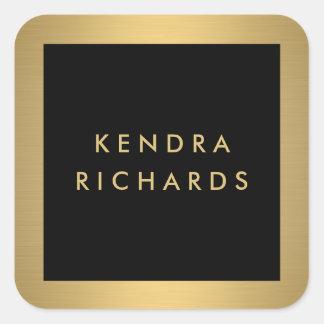 Pegatinas atractivos del logotipo del nombre del pegatina cuadrada