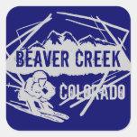 Pegatinas azul marino del esquí de Colorado del Be