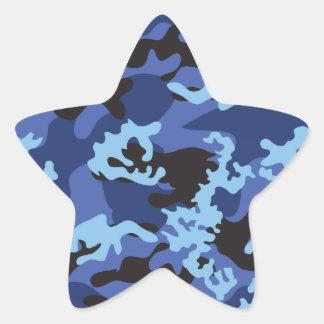 Pegatinas azules de encargo de Camo Colcomanias Forma De Estrellas