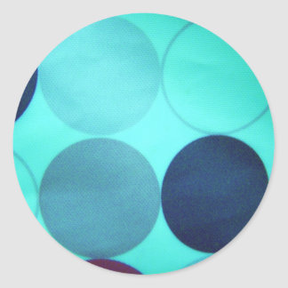 pegatinas azules de la actitud etiqueta redonda