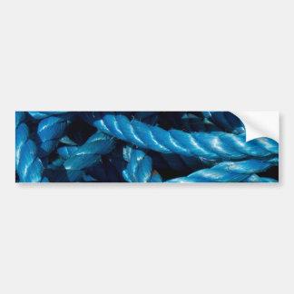 Pegatinas azules de la cuerda pegatina para auto