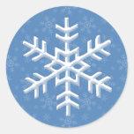 Pegatinas azules de las vacaciones de invierno del