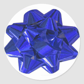 Pegatinas azules del arco pegatina redonda