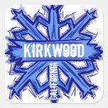Pegatinas azules del arte del copo de nieve de calcomanías cuadradas personalizadas