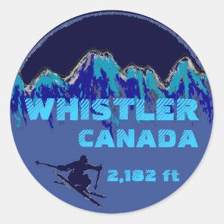 Pegatinas azules del arte del esquí de Canadá de l