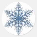 Pegatinas azules del copo de nieve