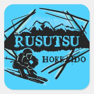 Pegatinas azules del logotipo del esquí de Japón d
