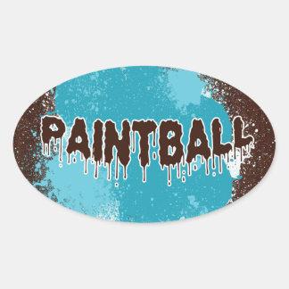Pegatinas azules del óvalo de Paintball Calcomanías De Ovales Personalizadas
