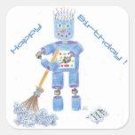 Pegatinas azules del robot
