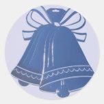 Pegatinas azules del sobre de Belces de boda